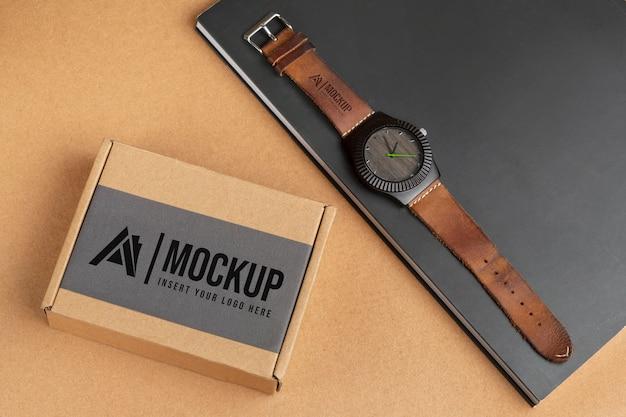 Mock-up-anordnung für vintage-merchandising-accessoires