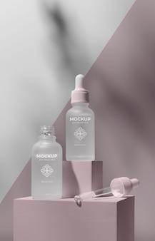 Mock-up-arrangement für hautpflegeprodukte