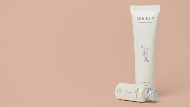 Mock-up-arrangement für kosmetikverpackungen