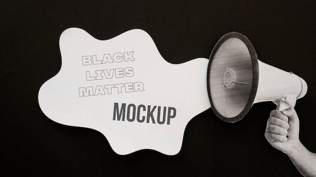 Mock-up-arrangement für schwarze leben ist wichtig