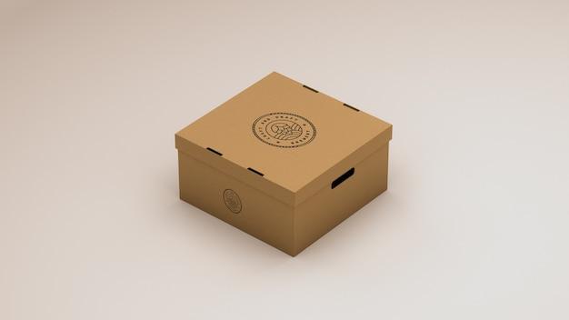 Mock-up aus pappkarton
