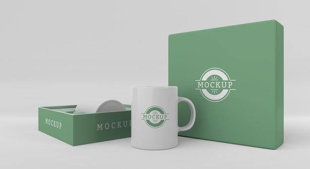 Mock-up-becherbox-anordnung