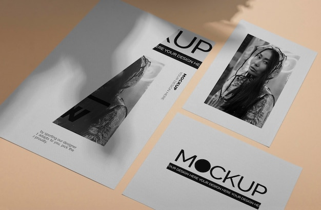 Mock-up-broschürenschattenüberlagerung draufsicht