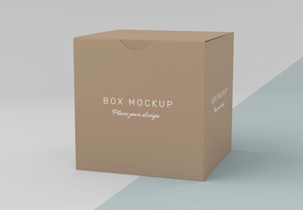 Mock-up der aufbewahrungsbox aus karton