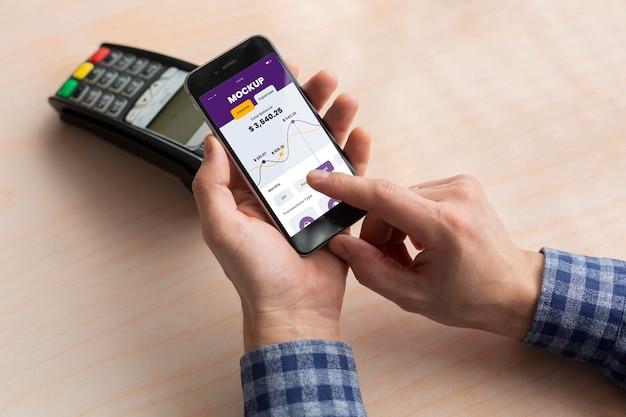 Mock-up der mobilen zahlungs-app