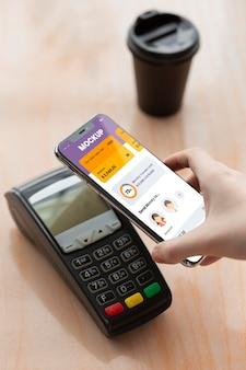 Mock-up der mobilen zahlungsanwendung