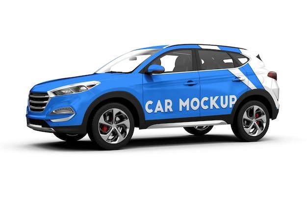 Mock-up der seite eines luxusautos