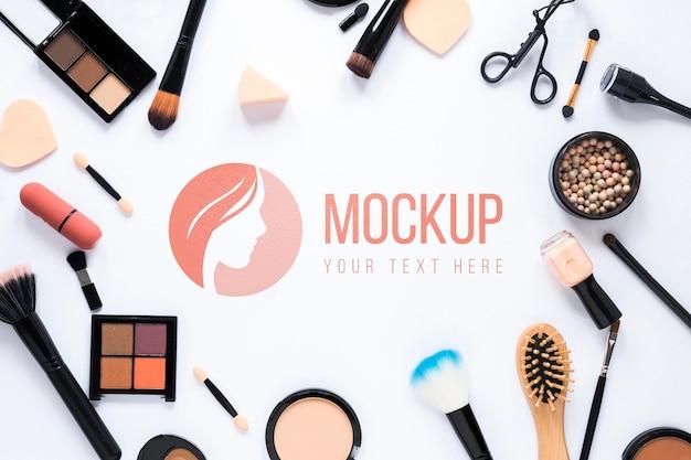 Mock-up-design für schönheitsprodukte
