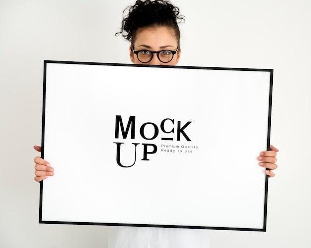 Mock-up design raum fotorahmen