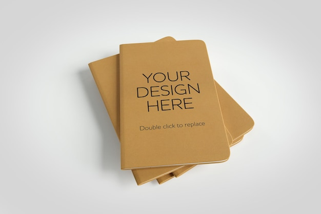 Mock-up eines notebooks - 3d-rendering