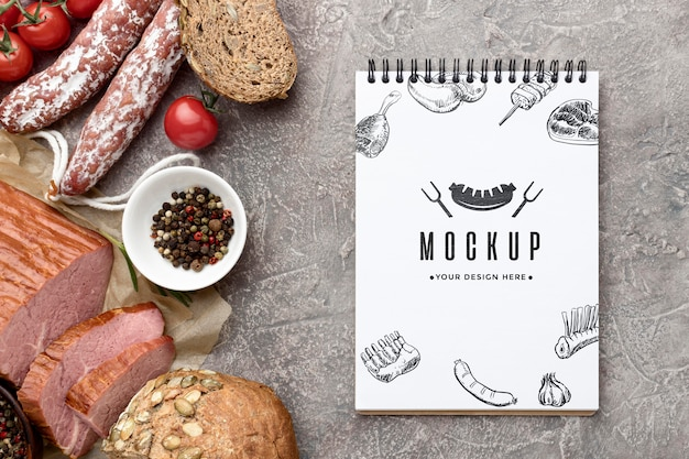 Mock-up fleischsammlung