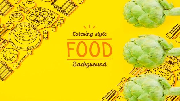 Mock-up frisches und gesundes gemüse