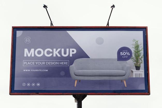 Mock-up für straßenplakate