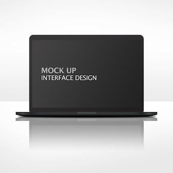 Mock up interface moderner laptop
