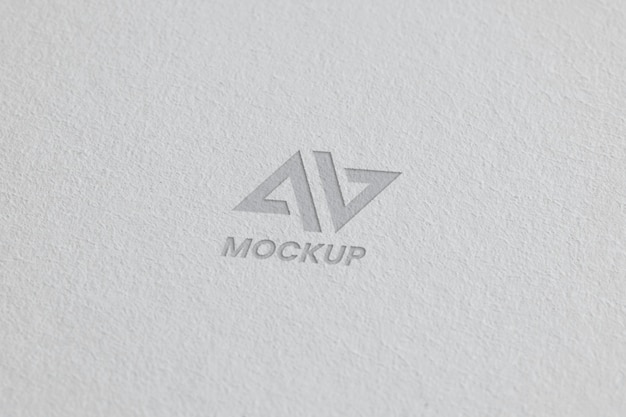 Mock-up logo design auf visitenkarten