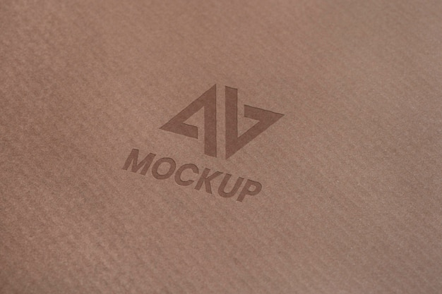 Mock-up logo design auf visitenkarten