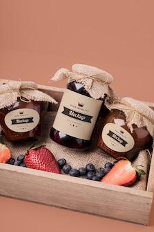 Mock-up marmeladengläser verpackungszusammensetzung