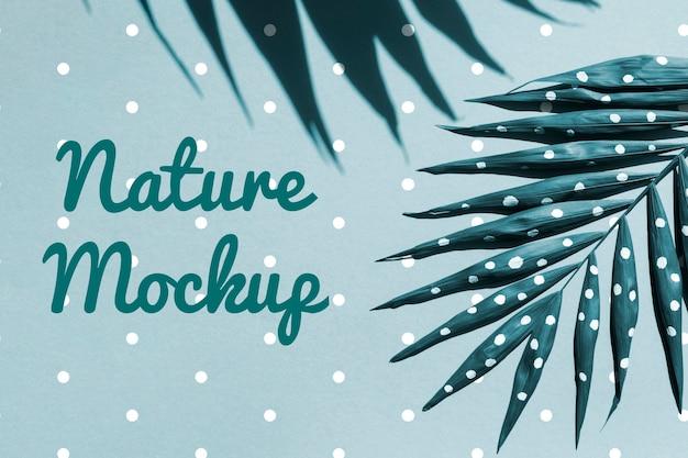 Mock-up natürliche pflanzenzeichnung