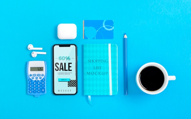 Mock-up-shopping-tools mit mock-up