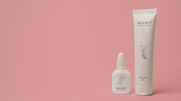 Mock-up-sortiment für kosmetikverpackungen