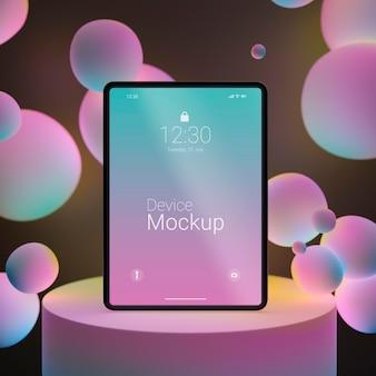 Mock-up-tablettenzusammensetzung mit flüssigen dynamischen elementen