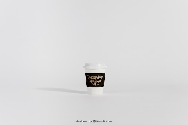 Mock-up von nehmen kaffeetasse weg