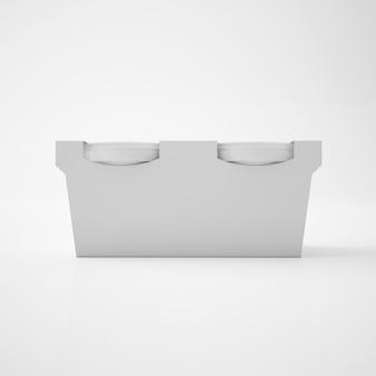 Mock up vorlage kunststoffwanne eimer behälter