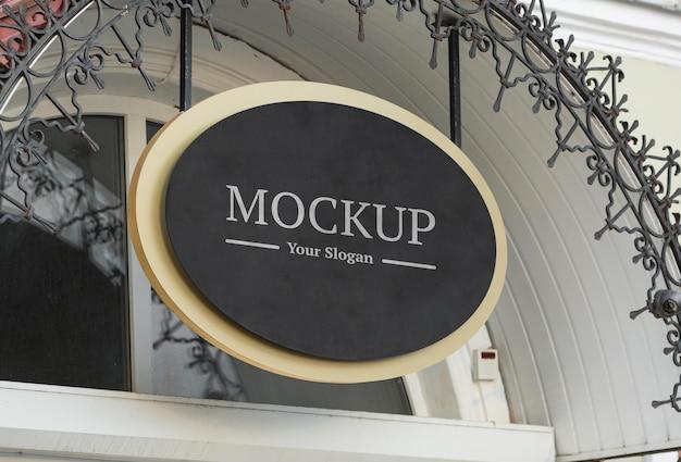 Mock-up-zusammensetzung des firmenzeichens