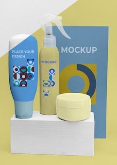 Mockup beauty-produkte anzeigen