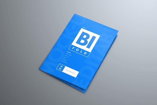 Mockup bi-fold-broschüren