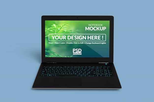 Mockup-bildschirm für notebook-geräte