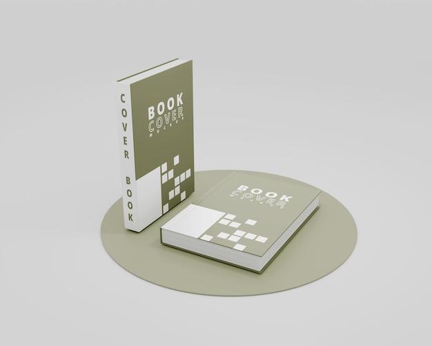 Mockup-buch mit hardcover