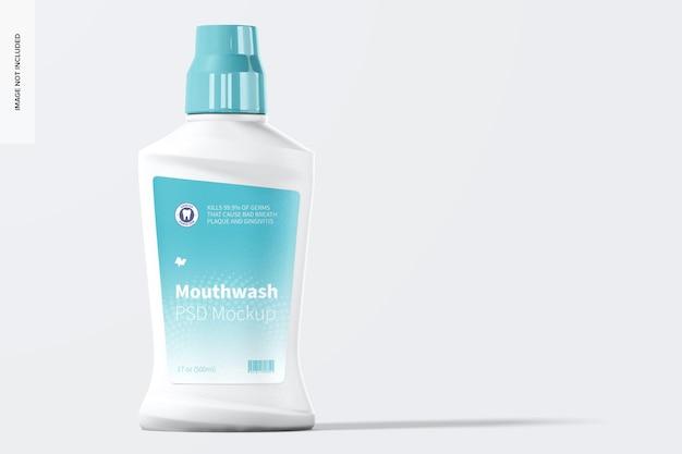 Mockup der mundwasserflasche, vorderansicht
