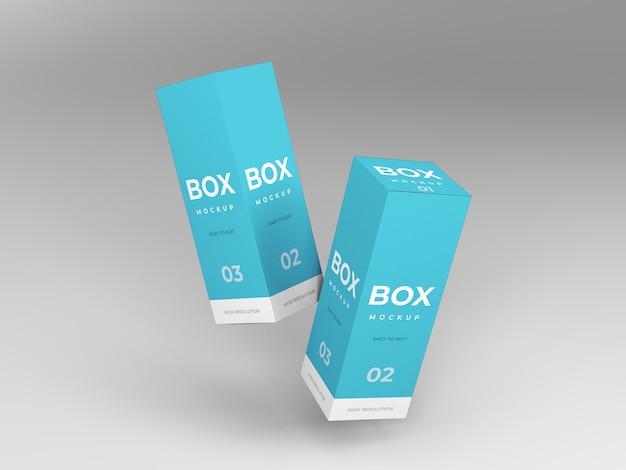Mockup der verpackungsbox