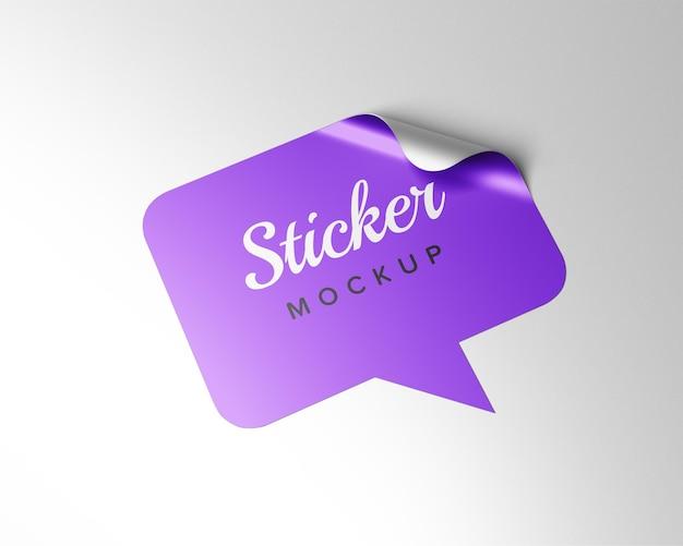 Mockup-design des nachrichtenaufklebers