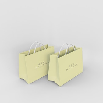 Mockup-design für einkaufstaschen aus papier
