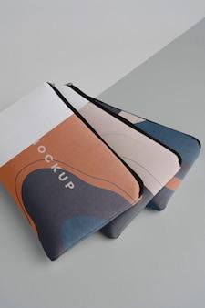Mockup-design für flache canvas-beutel