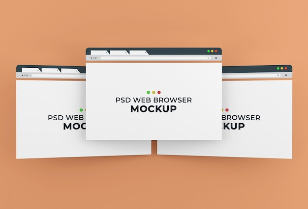 Mockup-design für internetbrowser-seiten