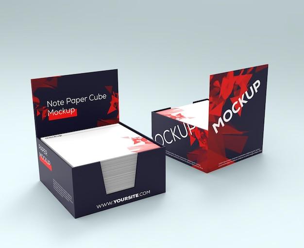 Mockup design rendering für glänzende papierboxen