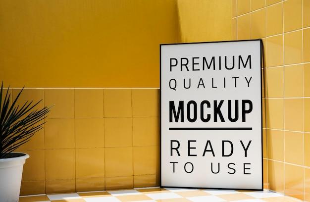 Mockup design space auf karton