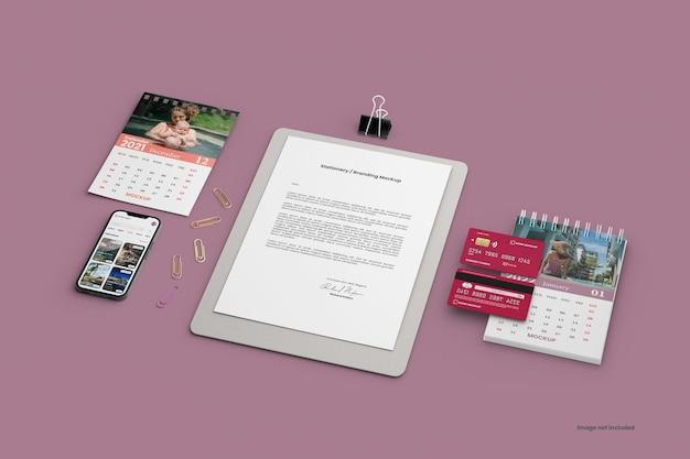 Mockup-ersteller für briefpapier-branding