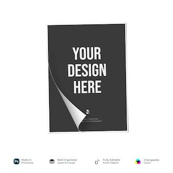 Mockup flyer poster broschüre papier basis design