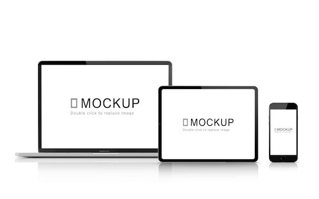 Mockup für digitale geräte