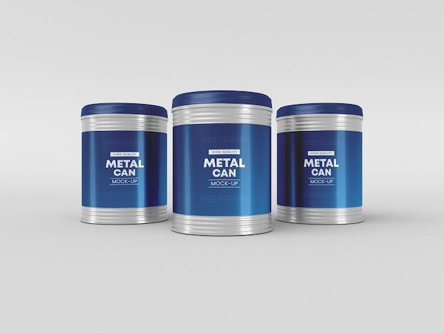 Mockup für metalldosenverpackungen