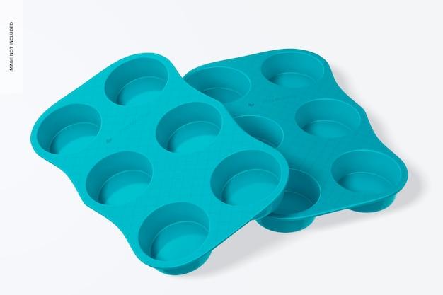 Mockup für muffinformen aus porzellan