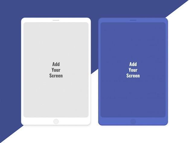 Mockup für tablets mit zwei bildschirmen