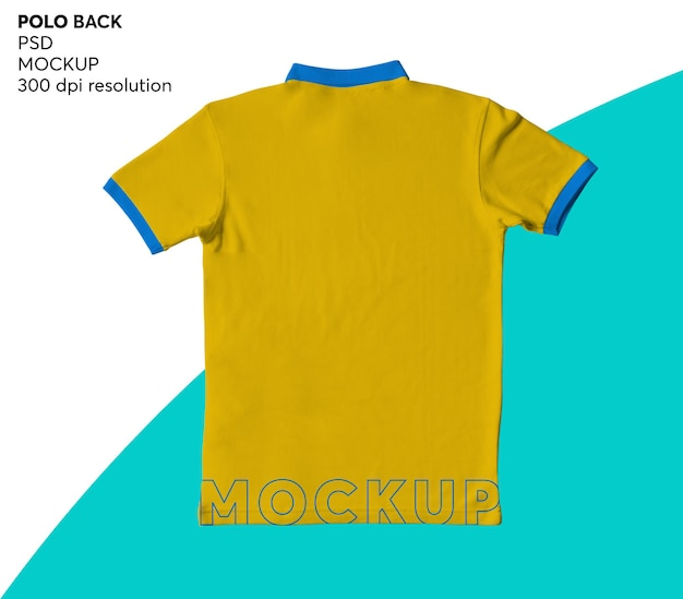 Mockup isolated herren polo shirt zurück