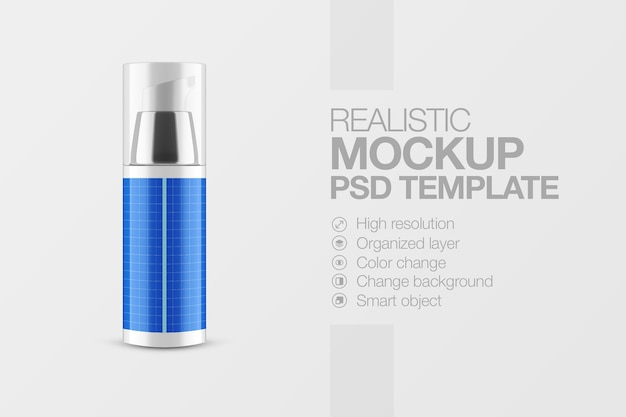 Mockup kosmetikflaschenspray