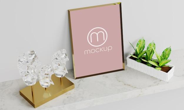 Mockup leere fotorahmen design