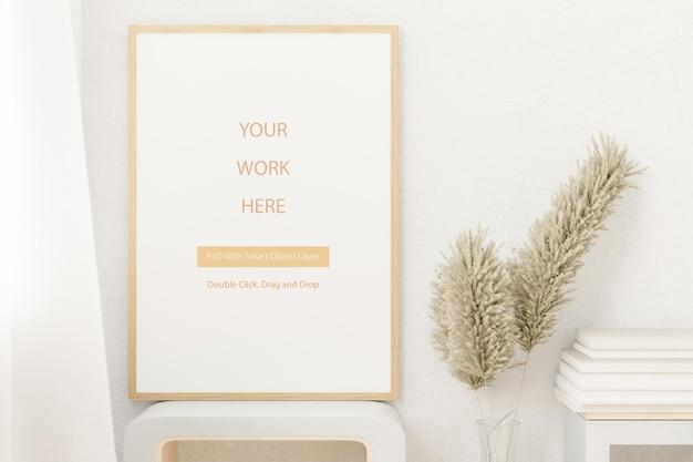 Mockup leerer fotorahmen für ihr design